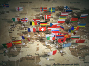 ATHEA homepage map of Europe